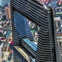 Buy canvas prints of Black Shanghai World Financial Center Skyscraper R by William Perry