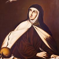 Buy canvas prints of Saint Teresa Painting Convento de Santa Teresa Avila Castile Spain by William Perry