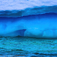 Buy canvas prints of Floating Blue Green Iceberg Closeup Water Antarctica by William Perry
