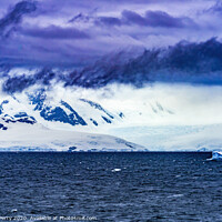 Buy canvas prints of Floating Blue Iceberg Snow Glaciers Charlotte Harbor Antarctica by William Perry