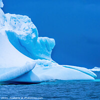 Buy canvas prints of Floating Blue Iceberg Closeup Water Antarctica by William Perry