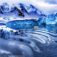 Buy canvas prints of Snow Mountains Blue Glaciers Refection Dorian Bay Antarctica by William Perry