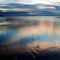 Buy canvas prints of Dusk at Formby Point by Wayne Molyneux