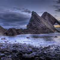 Buy canvas prints of Bow Fiddle Rock Scotland by Wayne Molyneux