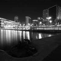 Buy canvas prints of Salford Quays Media City by Wayne Molyneux