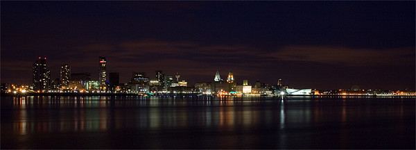 Liverpool River Mersey Canvas print by Wayne Molyneux