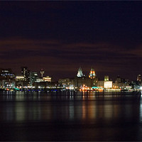 Buy canvas prints of Liverpool River Mersey by Wayne Molyneux