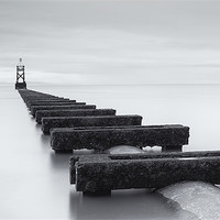 Buy canvas prints of Crosby Beach Outfall by Wayne Molyneux