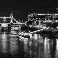 Buy canvas prints of River Thames & Tower Bridge by Wayne Molyneux