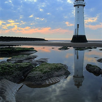 Buy canvas prints of Lighthouse at Perch Rock by Wayne Molyneux