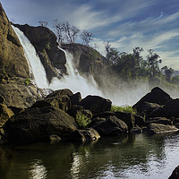 Buy canvas prints of A landscape view of a waterfall named Athirapally by Arpan Bhatia