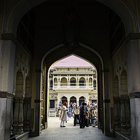 Buy canvas prints of Jaipur, India - October 21, 2012: An interior of a by Arpan Bhatia