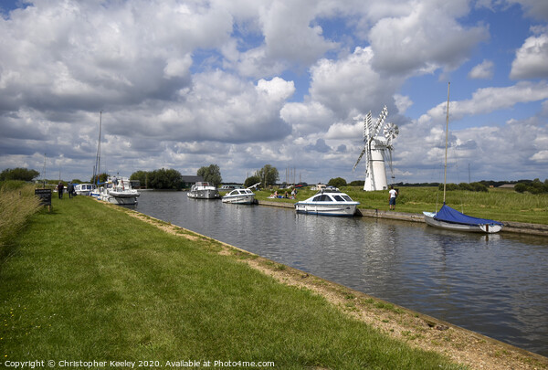 Thurne Mill Framed Mounted Print by Christopher Keeley