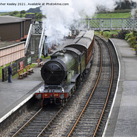 Buy canvas prints of North Norfolk steam train by Christopher Keeley