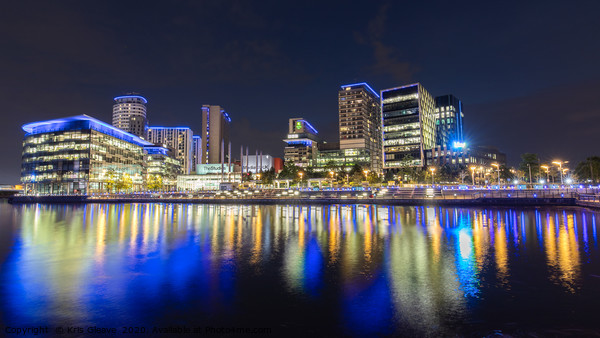 Media City Nightscape Canvas Print by Kris Gleave