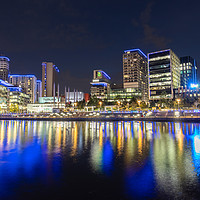 Buy canvas prints of Media City Nightscape by Kris Gleave