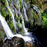 Buy canvas prints of Small waterfall                                    by Clive Karl Wuest
