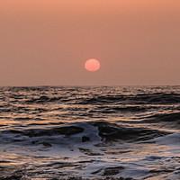 Buy canvas prints of Hazy lazy sunrise by Richard Perks
