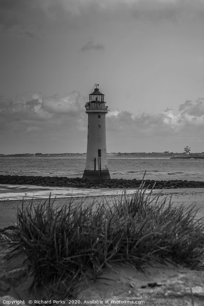 New Brighton lighthouse Print by Richard Perks
