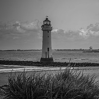 Buy canvas prints of New Brighton lighthouse by Richard Perks