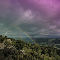 Buy canvas prints of chase the rainbow by Richard Perks