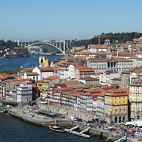 Buy canvas prints of EUROPE PORTUGAL PORTO RIBEIRA OLD TOWN DOURO RIVER by urs flueeler