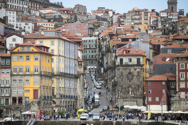 EUROPE PORTUGAL PORTO RIBEIRA OLD TOWN Print by urs flueeler