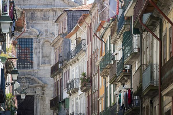 EUROPE PORTUGAL PORTO RIBEIRA OLD TOWN Print by urs flueeler