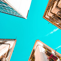 Buy canvas prints of Looking Up, Barcelona City Travel, Gothic Quarter by Radu Bercan