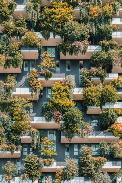 Bosco Verticale, Urban Forest In Milan Framed Mounted Print by Radu Bercan