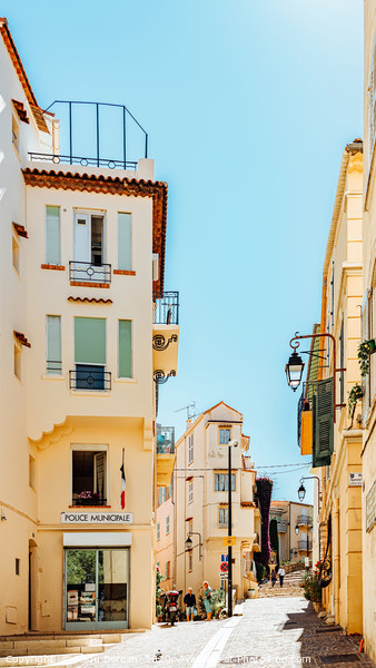 Cannes City, French Riviera, Urban France Houses Framed Mounted Print by Radu Bercan