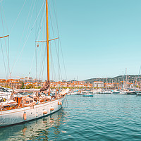 Buy canvas prints of Luxurious Yachts And Boats, Cannes French Harbor by Radu Bercan