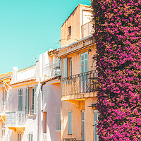 Buy canvas prints of Cannes City, Urban Architecture, Charming Houses by Radu Bercan