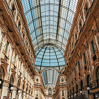 Buy canvas prints of Galleria Vittorio Emanuele, Milan Dome Gallery by Radu Bercan