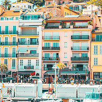 Buy canvas prints of Cannes Downtown City Skyline, French Riviera Port by Radu Bercan