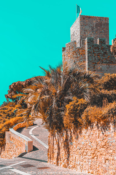 Le Suquet Castre Tower, Cannes French Riviera Print by Radu Bercan