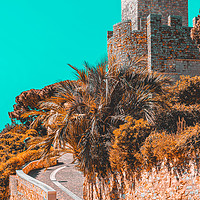 Buy canvas prints of Le Suquet Castre Tower, Cannes French Riviera by Radu Bercan