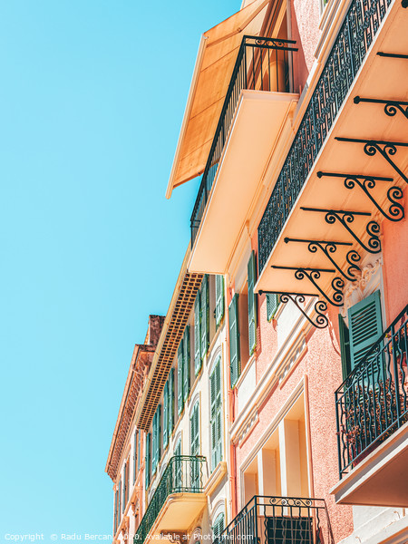 Cannes City Architecture, French Riviera Building Framed Mounted Print by Radu Bercan