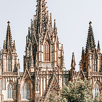 Buy canvas prints of Barcelona Cathedral, Gothic Cathedral Holy Church by Radu Bercan