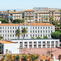 Buy canvas prints of Aerial Cannes City, French Riviera, Cote D'Azur by Radu Bercan