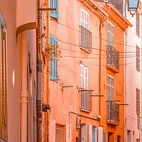Buy canvas prints of Cannes City Architecture, Orange Charming House by Radu Bercan