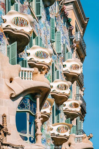 Casa Batllo, Antoni Gaudi Barcelona City Landmark Framed Mounted Print by Radu Bercan