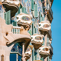 Buy canvas prints of Casa Batllo, Antoni Gaudi Barcelona City Landmark by Radu Bercan