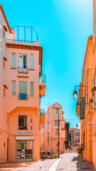 Beautiful Exotic Architecture, Cannes City Street Framed Print by Radu Bercan