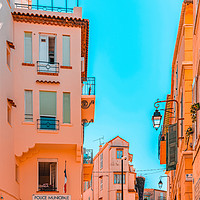 Buy canvas prints of Beautiful Exotic Architecture, Cannes City Street by Radu Bercan