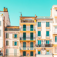 Buy canvas prints of Cannes City Architecture, French Riviera Pastel by Radu Bercan