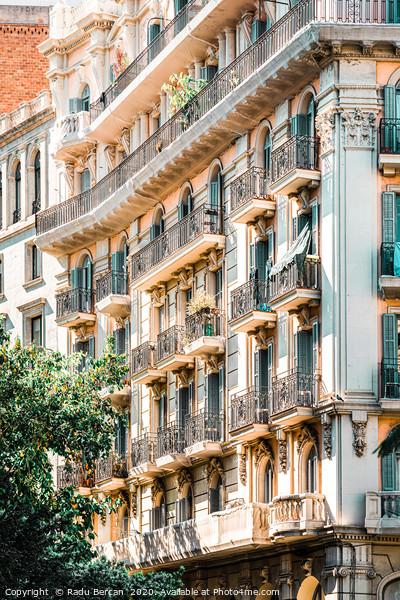 Barcelona City, Spanish Building Architecture Acrylic by Radu Bercan