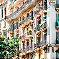 Buy canvas prints of Barcelona City, Spanish Building Architecture by Radu Bercan