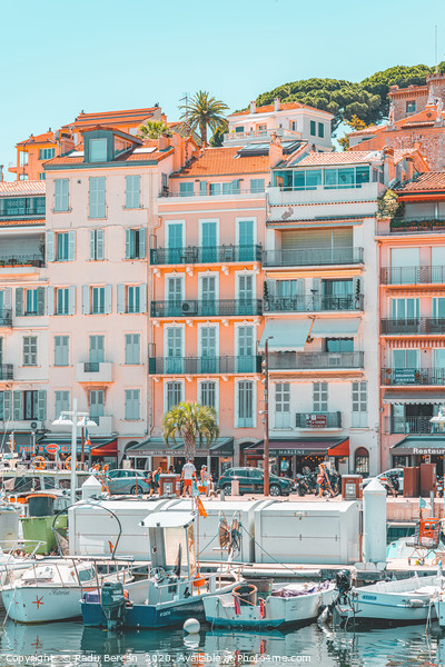 Cannes Downtown City, Summer Travel, Marina Port Framed Mounted Print by Radu Bercan