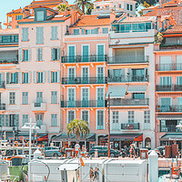 Buy canvas prints of Cannes Downtown City, Summer Travel, Marina Port by Radu Bercan